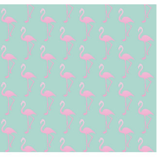 Pink Flamingo on Teal Seamless Pattern Photo Sculpture Button