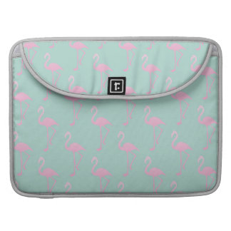 Pink Flamingo on Teal Seamless Pattern Sleeve For MacBook Pro