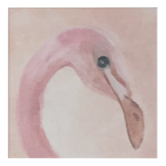 Pink Flamingo Painting Acrylic Wall Art