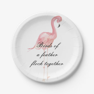 Pink Flamingo Party Paper Plates