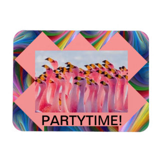 PINK FLAMINGO PARTYTIME MAGNET