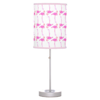 Pink Flamingo Pattern Desk Lamps