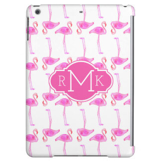 Pink Flamingo Pattern | Monogram iPad Air Cases