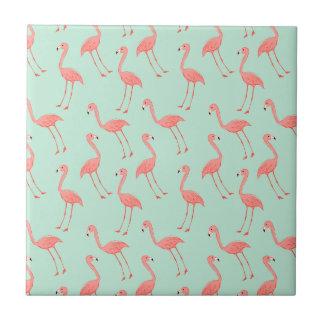 Pink Flamingo Pattern Tile