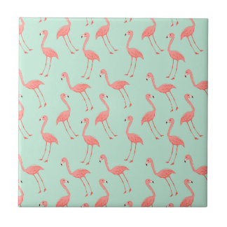 Pink Flamingo Pattern Tiles