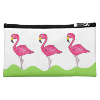 Pink Flamingo Personalized Bird Makeup Case Bag