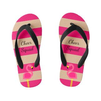 Pink Flamingo Personalized Kid's Flip Flops