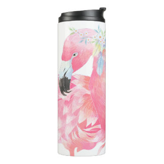 Pink Flamingo Personalized Thermal Tumbler