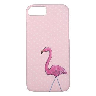 Pink Flamingo polka dot Iphone case