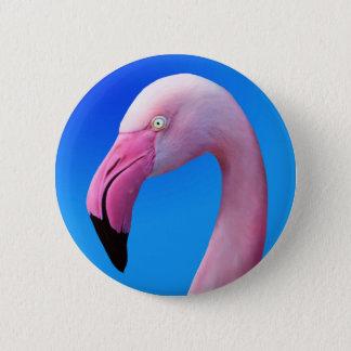 Pink Flamingo Portrait CloseUp Buttons