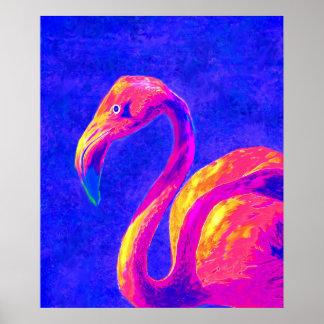 pink flamingo print