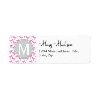 Pink Flamingo Return Address Label