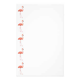 Pink Flamingo Simple Pattern Stationery