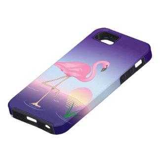 Pink Flamingo Tough iPhone SE Case
