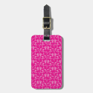 Pink Flamingo Travel Bag Tag Template
