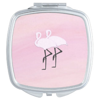 Pink Flamingo Travel Mirrors