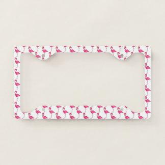 Pink Flamingo Tropical Island Bird Print Flamingos Licence Plate Frame