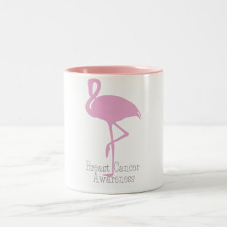 Pink Flamingo Two-Tone Coffee Mug