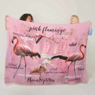 Pink Flamingo Typography | Customized Fleece Blanket
