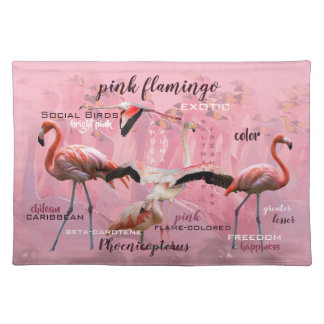 Pink Flamingo Typography | Customized Placemat
