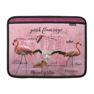 Pink Flamingo Typography | Customized Sleeve For MacBook Air