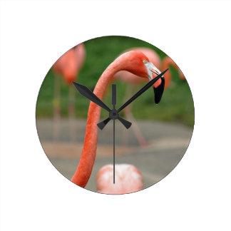 Pink Flamingo Wallclocks