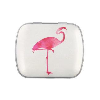 Pink Flamingo Watercolor Silhouette Florida Birds