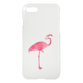 Pink Flamingo Watercolor Silhouette Florida Birds iPhone 8/7 Case