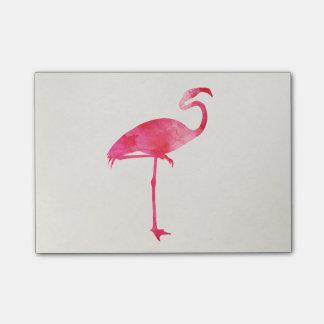 Pink Flamingo Watercolor Silhouette Florida Birds Post-it Notes