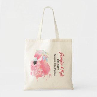 Pink Flamingo Wedding favor Tote Bag