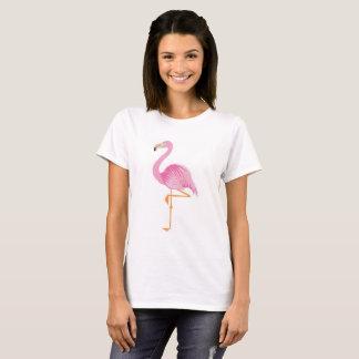 Pink flamingo women's cotton t-shirt