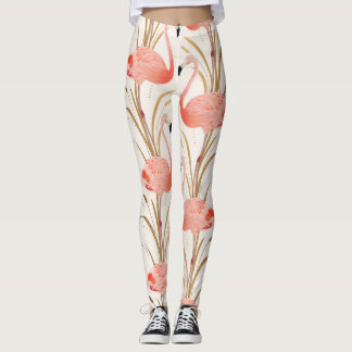 Pink Flamingo Workout Leggings
