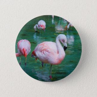 Pink Flamingos 2 Inch Round Button
