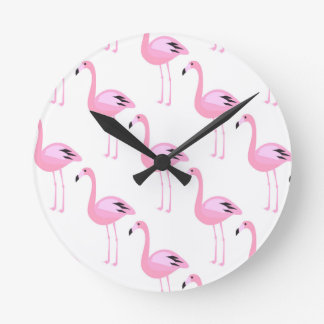 Pink Flamingos 2 Wallclock