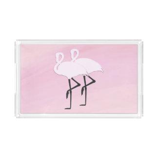 Pink Flamingos Acrylic Tray