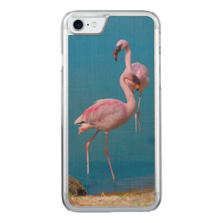 Pink Flamingos at the Lake Carved iPhone 8/7 Case