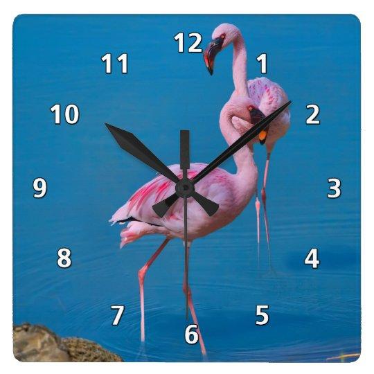 Pink Flamingos at the Lake Clock