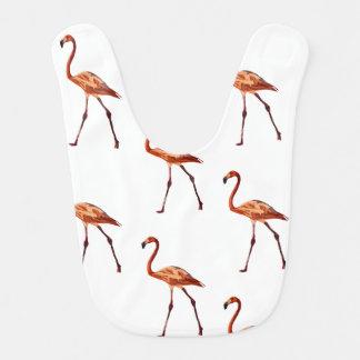 Pink Flamingos Baby Bib