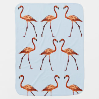 Pink Flamingos Baby Blanket