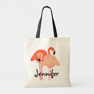 Pink Flamingos Beach Wedding Tote Bag