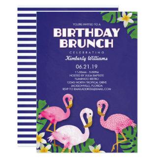 Pink Flamingos Birthday Brunch Card