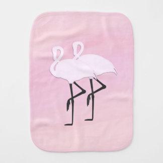Pink Flamingos Burp Cloth