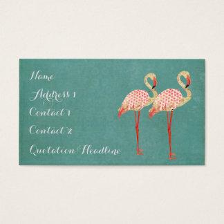Pink Flamingos Business Card