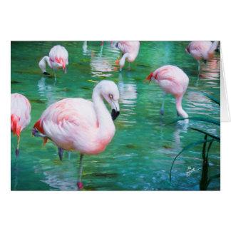 Pink Flamingos Card