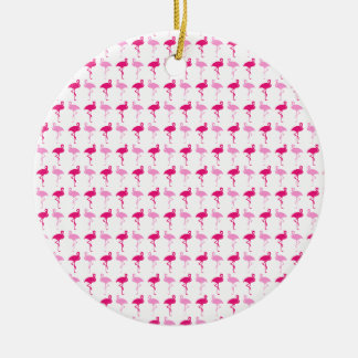 Pink Flamingos Ceramic Ornament