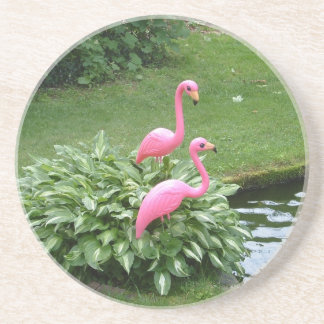 PINK FLAMINGOS coaster
