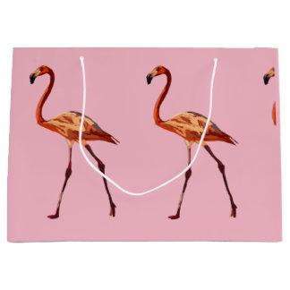Pink Flamingos Custom Gift Bag - Large, Glossy