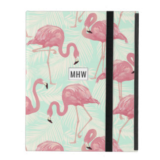 Pink Flamingos custom monogram device cases