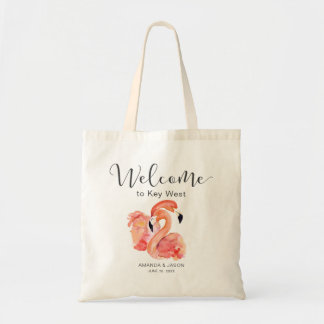 Pink Flamingos Destination Wedding Welcome Tote Bag
