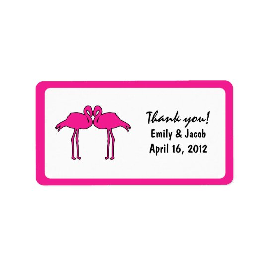 Pink Flamingos Favour Tags